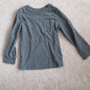 Cat and Jack grey long sleeve shirt size 5T